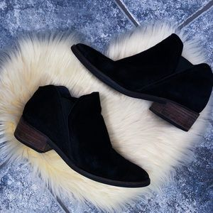 Dolce Vida Black Suede Ankle Booties